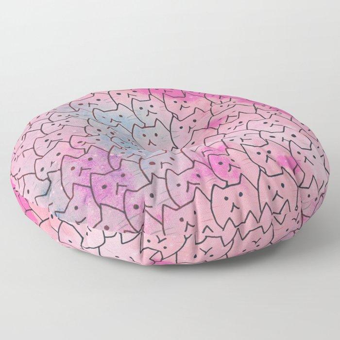 cats new colour 626 Floor Pillow