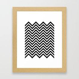 Black Lodge Zig Zag Framed Art Print
