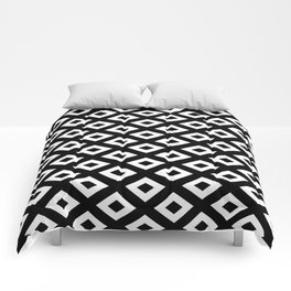 BLACK AND WHITE RHOMBS Comforters