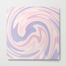 70s retro swirl pink and purple Metal Print