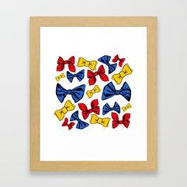Bow ti ful bows Framed Art Print