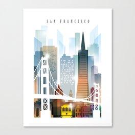 City of San Francisco painting Canvas Print
