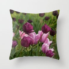 Shades of Burgundy Throw Pillow