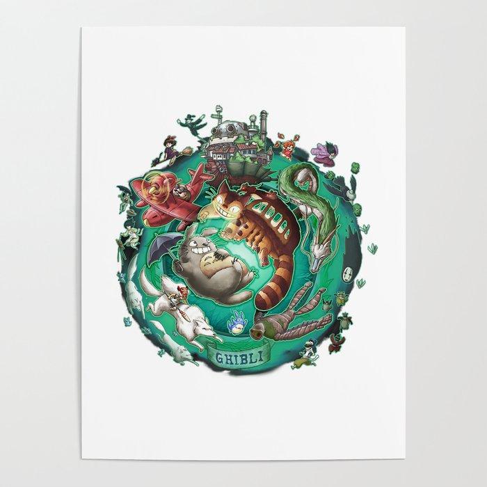 Studio Ghibli - 3 Poster by geeksworld  eef8d35329