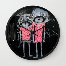 street art couple Wall Clock