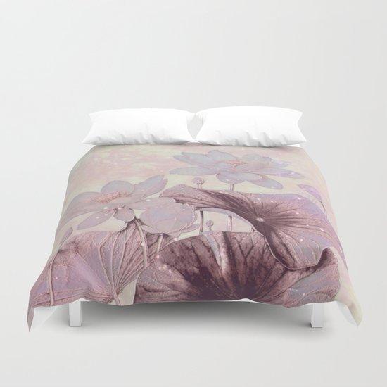 pastel waterlily Duvet Cover