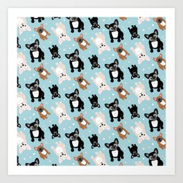 Frenchie Lover French Bulldog Pattern Art Print