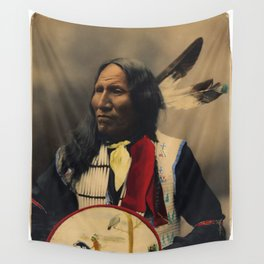 Strikes With Nose, Oglala Sioux Chief 1899 Wall Tapestry