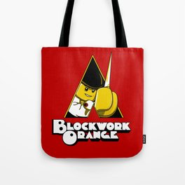 Blockwork Orange Tote Bag