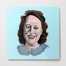 Happy Annie Wilkes - Misery  (Blue) Metal Print