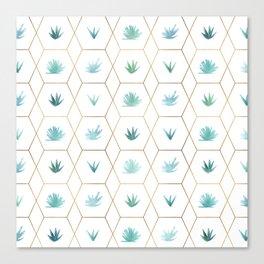 Geometric Succulents Canvas Print