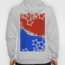 Red White and Blue with Stars Hoody