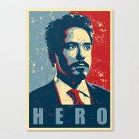 tony stark Canvas Prints featuring Tony Stark by Cadies Graphic