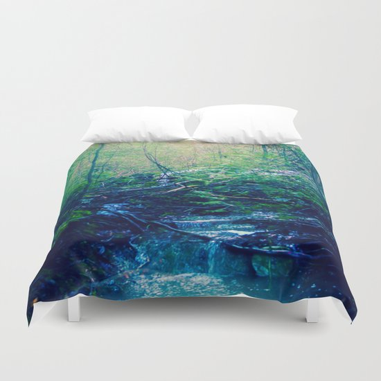 Walking Through Dreams Duvet Cover