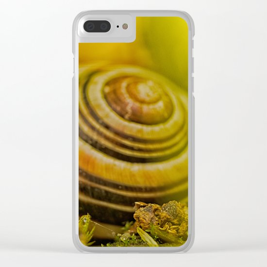 Beautiful Snail shell Clear iPhone Case