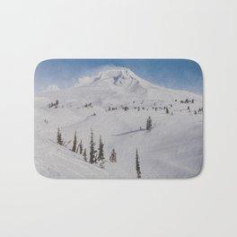 Snowy Mount Hood Bath Mat