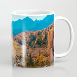 Autumn trekking in the alpine Pusteria valley Coffee Mug