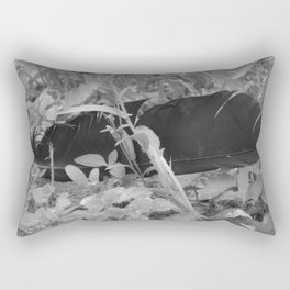 Black plume Rectangular Pillow