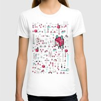 8bit T-shirts featuring 8bit Love by Elisa Sassi