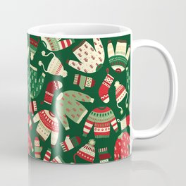 Ugly Christmas Fashion red green white Coffee Mug