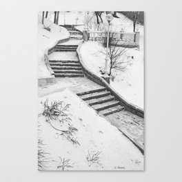 Winter Stairs Harmony (G. Agrons tribute) Canvas Print