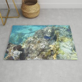 Watercolor Seascape, St John 67, USVI Rug