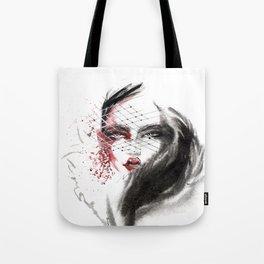 Portrait of a beautiful girl. Fashion illustration. Tote Bag