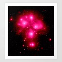 constellation Art Prints featuring constellation : 7 Sisters of Pleaides by 2sweet4words Designs