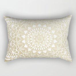BOHO NIGHTS GOLD MANDALA Rectangular Pillow
