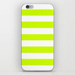Volt - solid color - white stripes pattern iPhone Skin