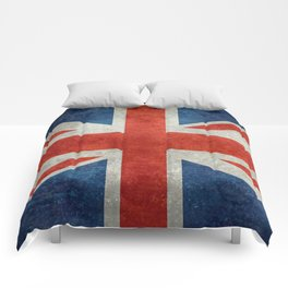 "UK British Union Jack flag ""Bright"" retro Comforters"