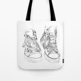 Hightop Shoes Illustration  Tote Bag