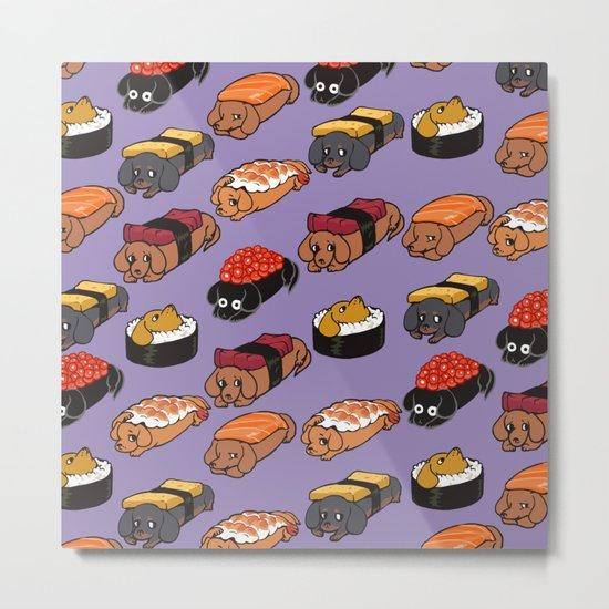 Sushi Daschunds Metal Print