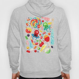 Candy Pattern - White Hoody