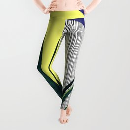 Geometric Leaves Leggings