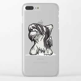 Funny Dabbing Lhasa Apso Dog Dab Dance Clear iPhone Case