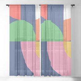 Abstract Geometric 16 Sheer Curtain
