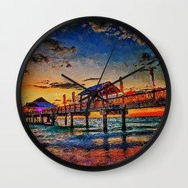 Pier 60, Clearwater Beach Wall Clock
