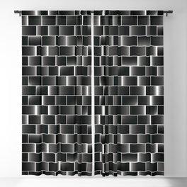 Silver set of tiles Blackout Curtain