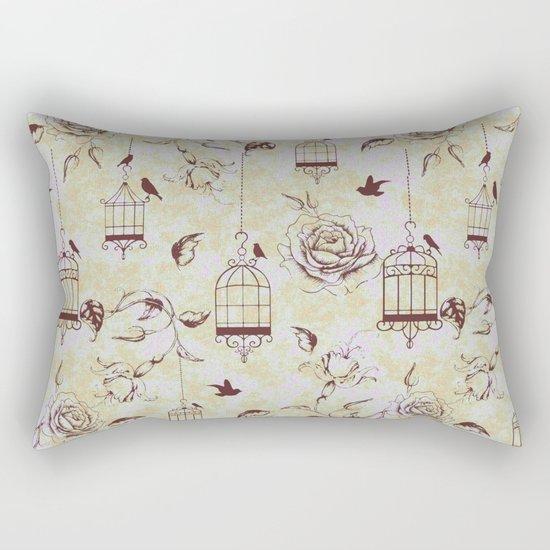 Roses & cages Rectangular Pillow