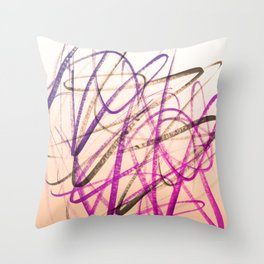 Expressive Royal Fuchsia and Lavender Abstract Throw Pillow