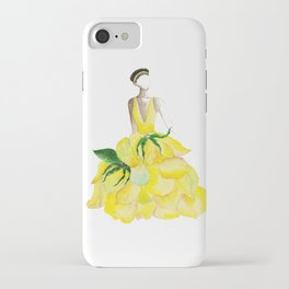 Girl watercolor painting print, Fashion illustration, Girl art, watercolor, Rose art, Girl illustrat iPhone Case