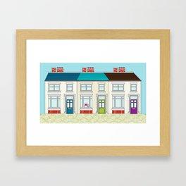 The Victorian Terrace Framed Art Print