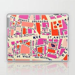 paris map pink Laptop & iPad Skin