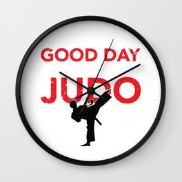 Judo Judoka Jujutsu Jiu Jitsu Wall Clock