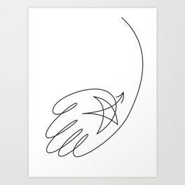 Hand Star Art Print