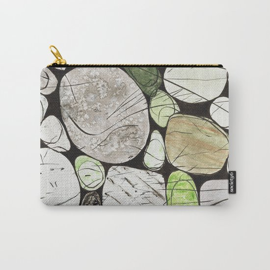 Classical Stones Pattern in High Format Carry-All Pouch