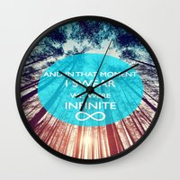 the perks of being a wallflower Wall Clocks featuring Perks of Being a Wallflower by Sjaefashion