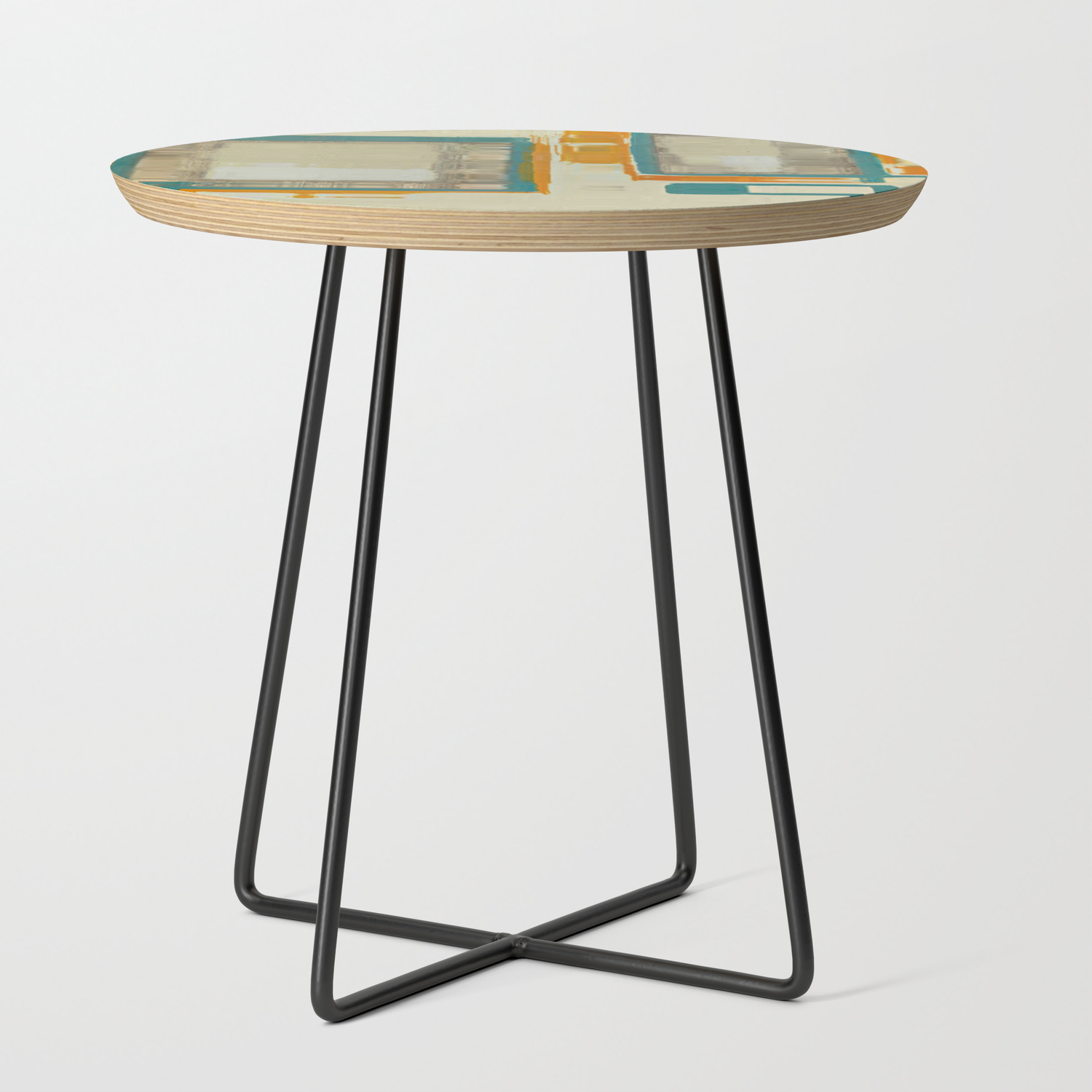 Mid Century Modern Blurred Abstract Art Best Most Popular By Corbin Henry Side Table By Corbinhenry