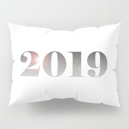 2019 New Year Silver Pillow Sham